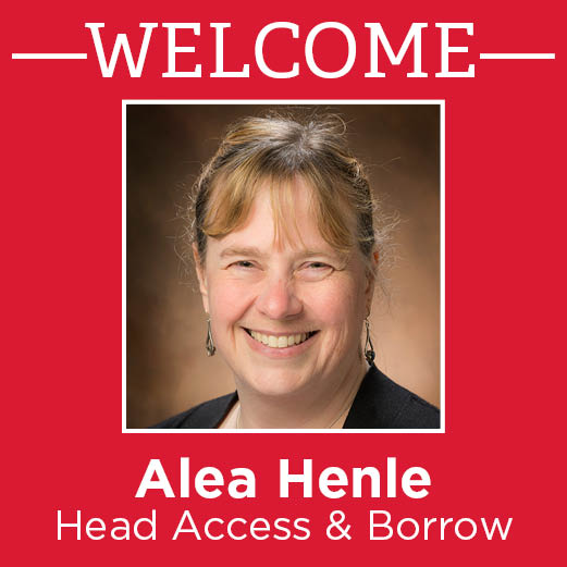 Alea Henle, new head of Access & Borrow, participates in a question and answer session.