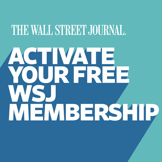 Activate your free Wall Street Journal membership